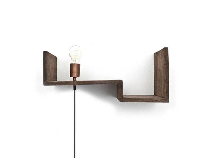 By-Boo Wandplank inclusief lamp - 50x24xH21 cm