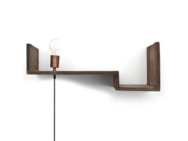 By-Boo Wandplank inclusief lamp - 75x24xH21 cm