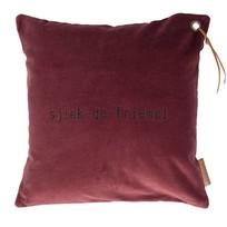 Kussen Fluweel Aubergine sjiek de friemel - 45xH45 cm