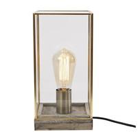 Messing Tafellamp Vierkant - 15x15xH30 cm
