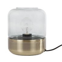 Ronde Tafellamp Messing - Ø15xH18 cm
