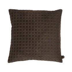 Fluwelen Kussen Squares Bruin- 45xH45 cm