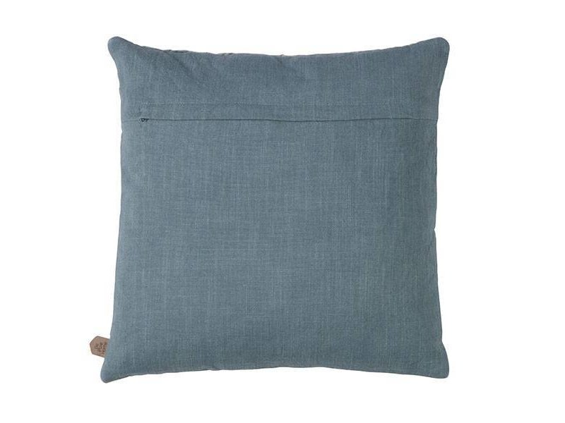 BePureHome Fluwelen Kussen Squares Blauw - 45xH45 cm