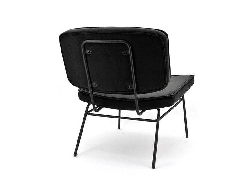 By-Boo Vice Loungestoel Zwart - 63,5x73xH76 cm