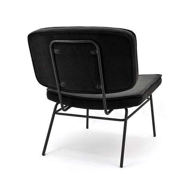 Zwarte Lounge Stoel.By Boo Vice Loungestoel Zwart 63 5x73xh76 Cm