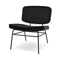 Vice Loungestoel Zwart - 63,5x73xH76 cm