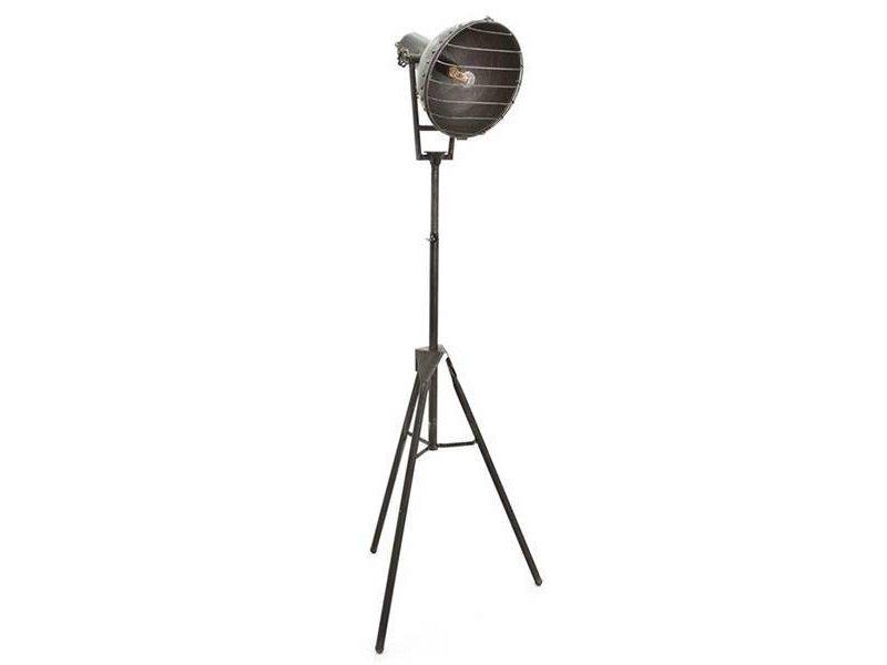 By-Boo Grijze Vloerlamp Heatwave - 49x56xH150 cm