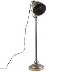Grijze Metalen Vloerlamp Karel - 23x26xH164 cm