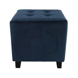 Blauwe Stoffen Poef Joseph - 35x35xH35 cm