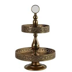 Gouden Metalen Etagere - 35xH55,5 cm