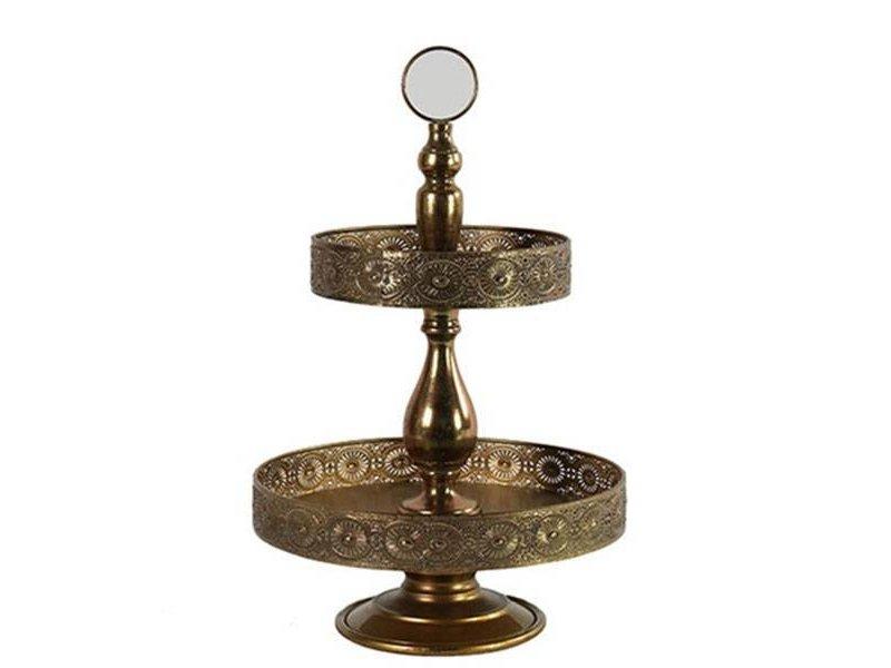 GeWoon Gouden Metalen Etagere - 35xH55,5 cm