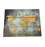 GeWoon Wereldkaart Vintage - 80xH60 cm