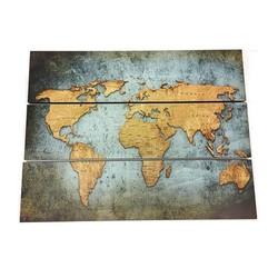 Wereldkaart Vintage - 80xH60 cm