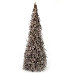 Houten Kerstboom Grijs - 45xH110 cm