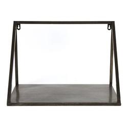 Donker metalen wandschap Isha - 43x25xH29,5 cm