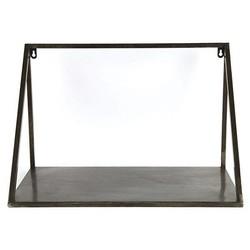 Donker Metalen Wandschap Isha - 52x28xH34 cm