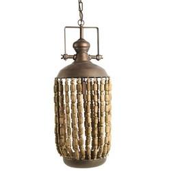 Koper Metalen Hanglamp Mila - 29xH178 cm