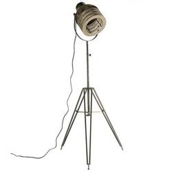 Grijze Industriële Vloerlamp Mila - 70x60xH144 cm
