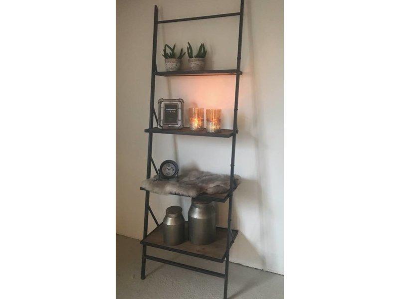 Sweet Living Zwart Metalen Rek Mees - 66,5x41,5xH197 cm