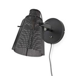 Zwarte Metalen Wandlamp Apollo - 31x25xH25 cm
