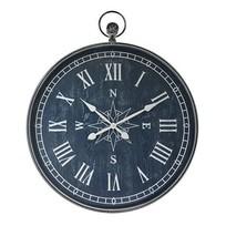 Wandklok Kompas Blauw - 78xH95 cm