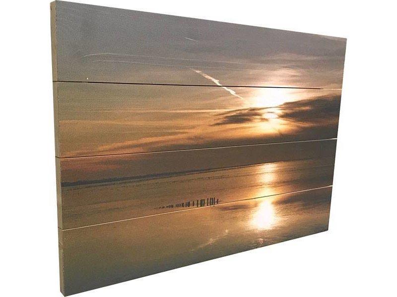 Sweet Living Schilderij Sintsje Planken - 60xH40 cm