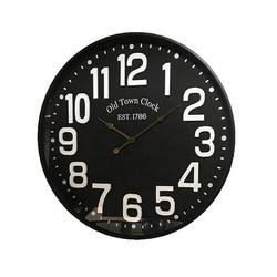 Zwarte Metalen Wandklok Tom - 60 cm