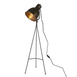 Grijze Metalen Vloerlamp Driepoot - Ø21,7xH113,5 cm