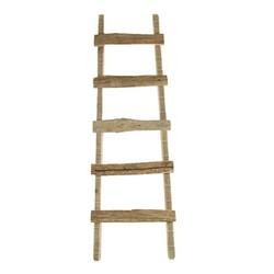 Decoratie Ladder Hout Lara - 37x5xH118 cm