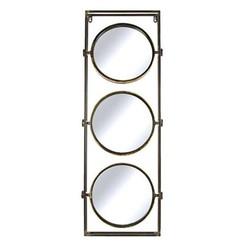 Gouden Metalen Wandspiegel Remy- 33x5xH90