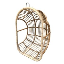 Naturel Rotan Hangstoel Egg - 78x62xH118 cm