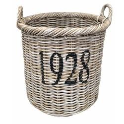 Ronde rieten mand XL - 1928