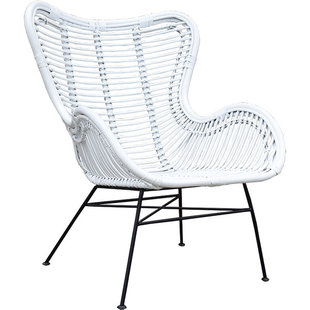 Rotan Vlinderstoel Wit - 70x76xH90 cm