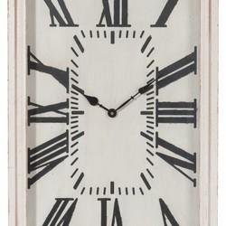 Witte houten wandklok - 40x60 cm