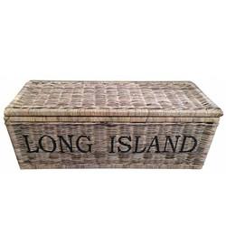 Grote bruine rieten mand XXL - Long Island