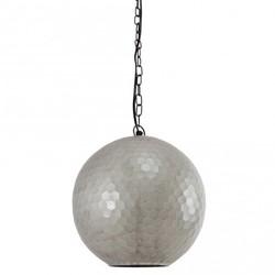 Zilveren hanglamp Honeycomb - Ø25 cm