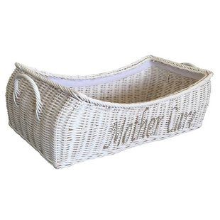 Witte rieten mand - Mother Care