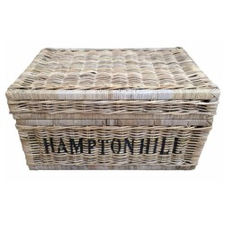 Grote rieten mand met deksel - Hampton Hill