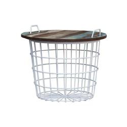 Bijzettafel Basket Wit - 60xH50 cm