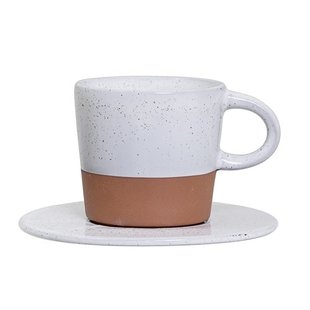 Kop en schotel Terracotta - Espresso