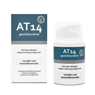 AT14® Skincare AT14® Gezichtscrème - 50ml. Echt hypoallergeen!