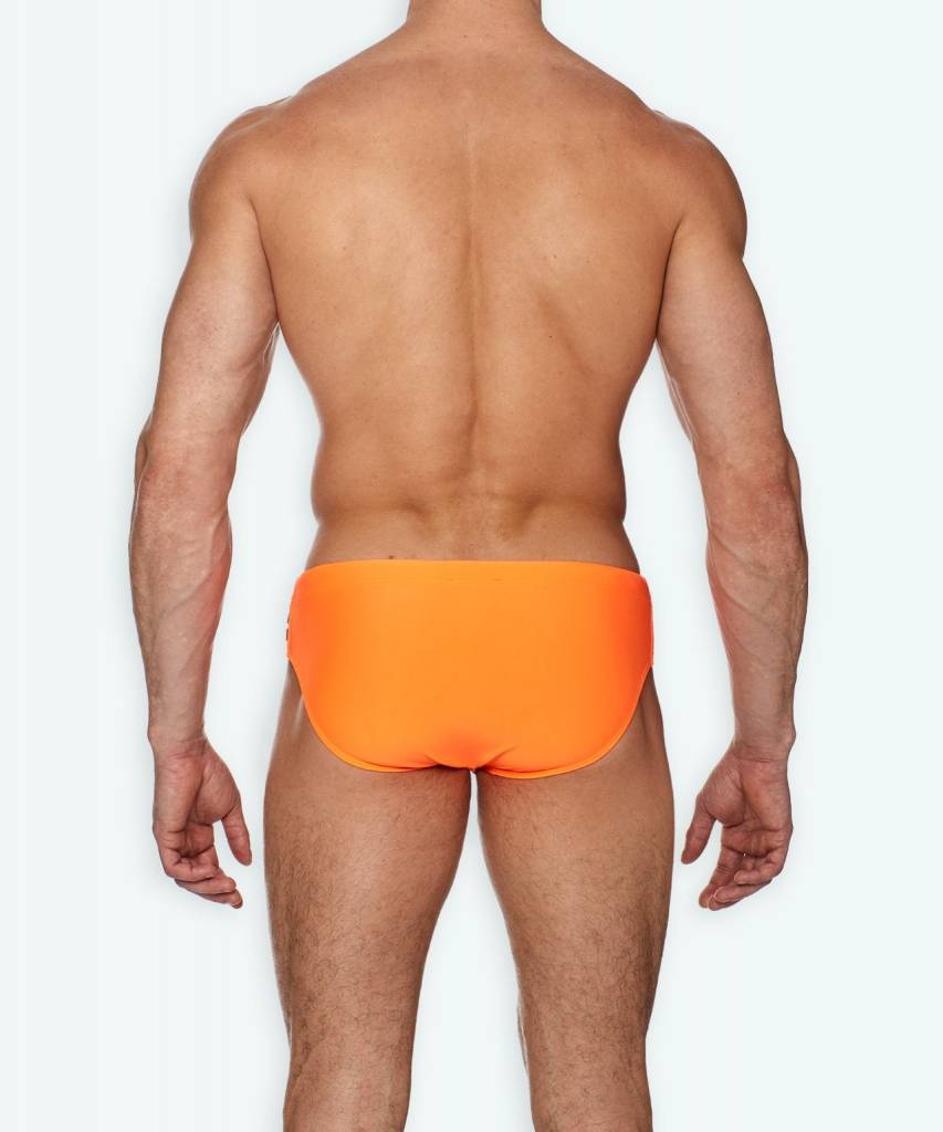 Ron Dorff EYELET EDITION Swim Trunks Fluo Orange