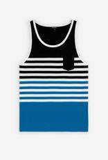 Ron Dorff HORIZONTAL STRIPES Tank Top Pool Blue/Navy