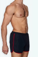 Ron Dorff EYELET EDITION Marathon Swim Shorts Navy/Red