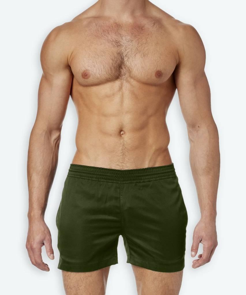 Ron Dorff EYELET EDITION Exerciser Shorts Army Green