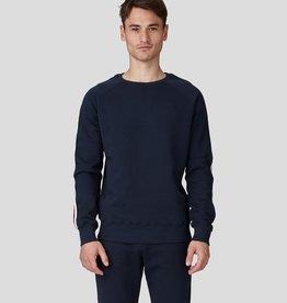 Ron Dorff SIDE STRIPE sweatshirt Navy