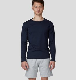 Ron Dorff EYELET EDITION long slv tshirt Navy