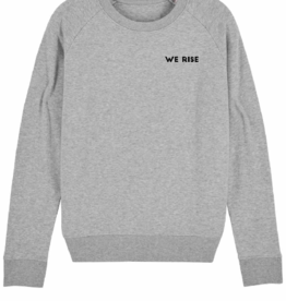 "WOODS Sweater ""We Rise"" grey"