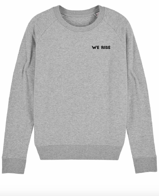 """WOODS Sweater """"We Rise"""" grey"""