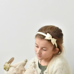 Your Little Miss Diadem bow ivory